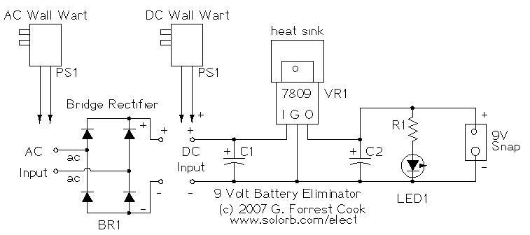 Nine Volt Battery Eliminator