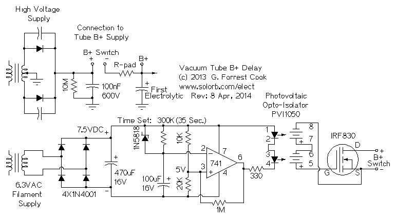 Vacuum Tube B+ Delay Circuit