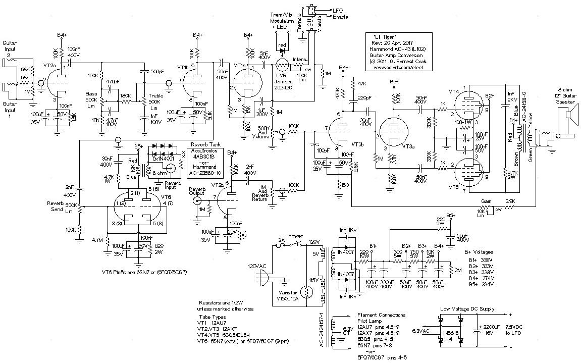 hammond organ schematic diagrams