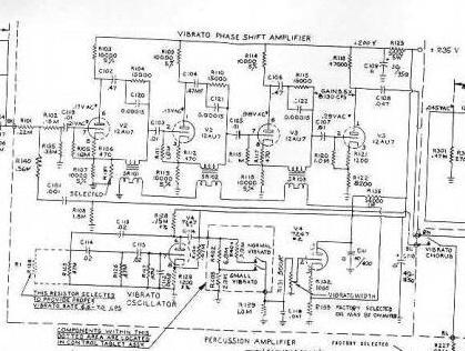 hammond organ schematic diagrams