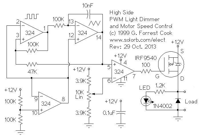 pwm schematic wiring diagram Pulse Width Modulator Schematic pwm motor light controllerhigh side pwm schematic