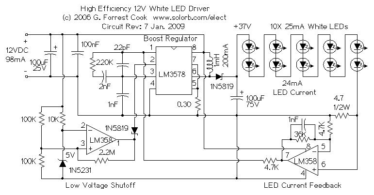 Led Driver 12v Circuit Worksheet And Wiring Diagram